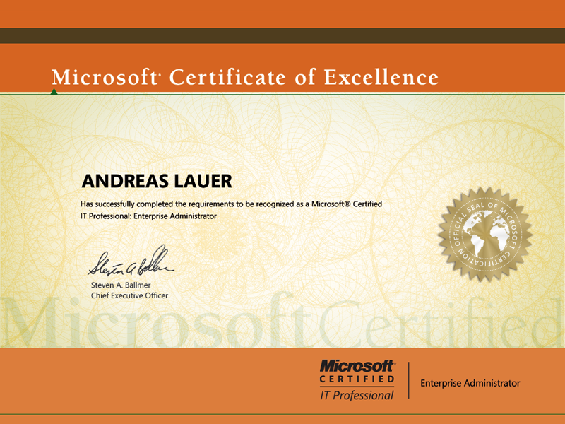 Microsoft Certified IT Professional (MCITP): Enterprise Administrator on Windows Server 2008