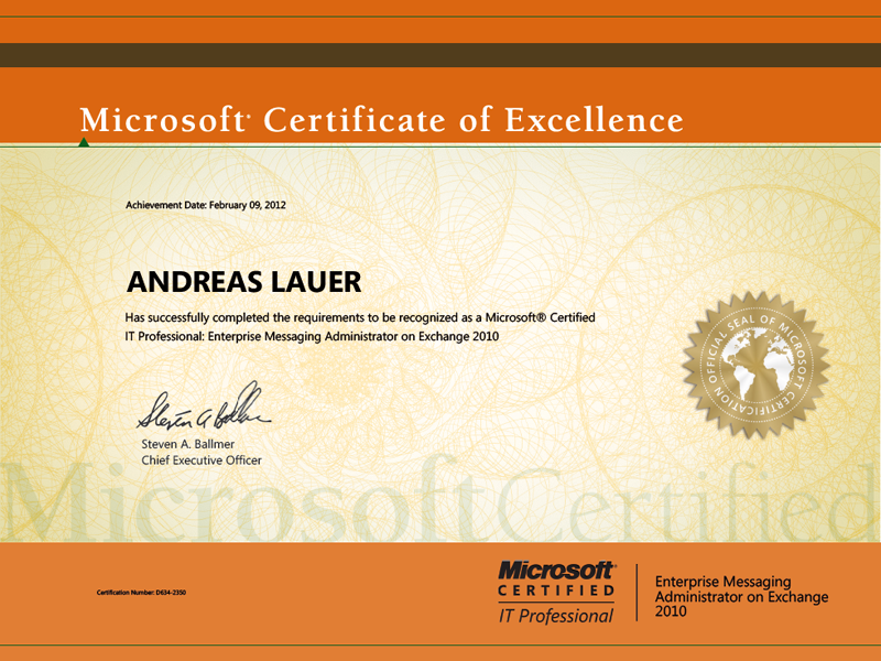 Microsoft Certified IT Professional (MCITP): Enterprise Messaging Administrator on Exchange 2010