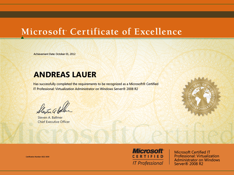 Microsoft Certified IT Professional (MCITP): Virtualization Administrator on Windows Server 2008 R2