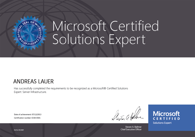 Microsoft Certified Solutions Expert (MCSE): Server Infrastructure