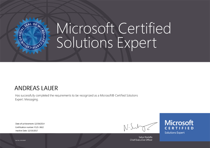 Microsoft Certified Solutions Expert (MCSE): Messaging